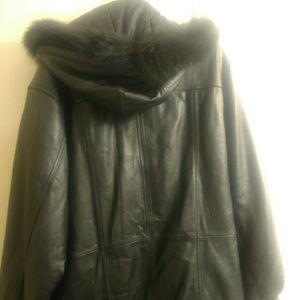 Jackets & Blazers - Carlo Amboldi leather coat